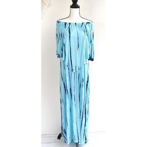 Soft Surroundings Blue Maui Maxi Dress